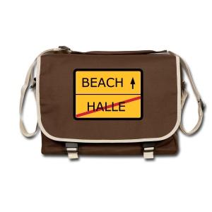 No Halle, just Beach - Umhängetasche