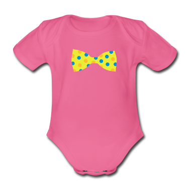 A bow tie with dots Baby Bodysuits