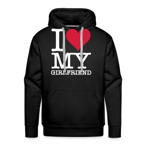 Ms-clothing Love My Girlfriend Hættetrøje - Herre Premium hættetrøje