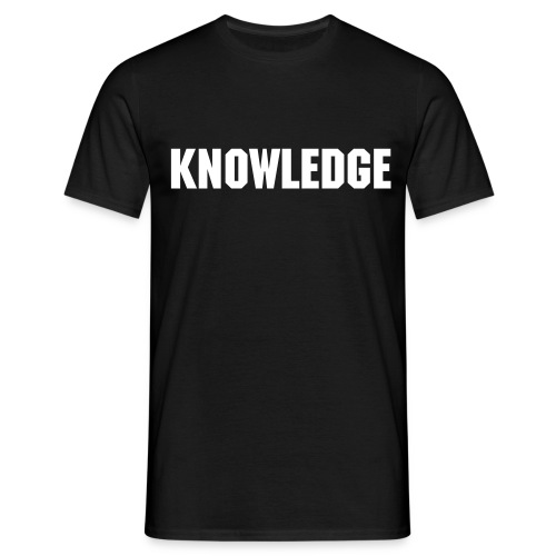 Word of the Day - KNOWLEDGE - Machine font - Men's T-Shirt