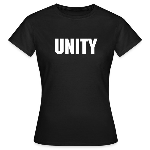 Word of the Day - UNITY - Machine font - Women's T-Shirt