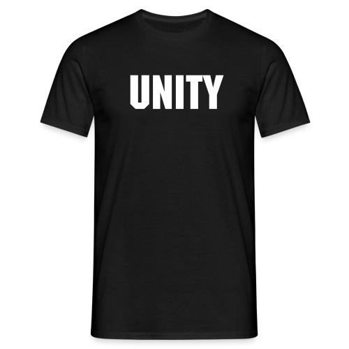 Word of the Day - UNITY - Machine font - Men's T-Shirt