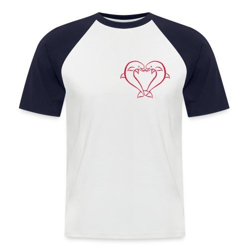 Dauphin coeur - T-shirt baseball manches courtes Homme