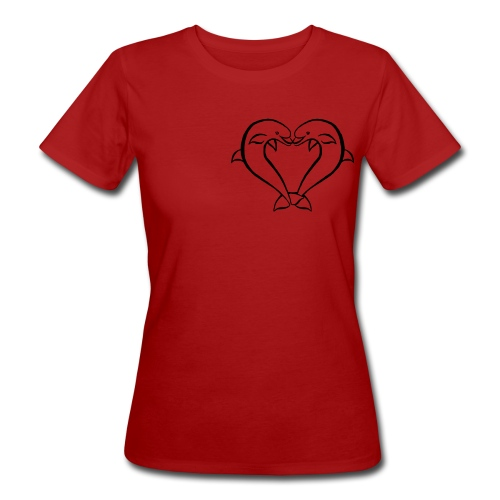Dauphin coeur - T-shirt bio Femme
