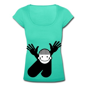 boy - o - boy fringe - Women's Scoop Neck T-Shirt