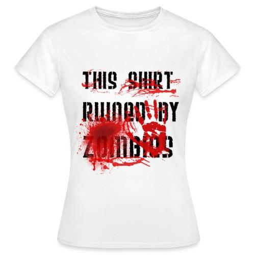 zombie ruined tee - Women's T-Shirt