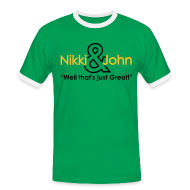 T-Shirts ~ Men's Ringer Shirt ~ Nikki and John well that's just great!
