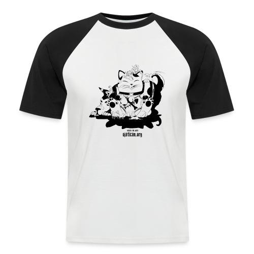 mod. Enma-Negro bicolor hombre m/c  - Camiseta béisbol manga corta hombre