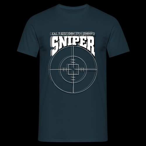 Sniper (white) - T-skjorte for menn