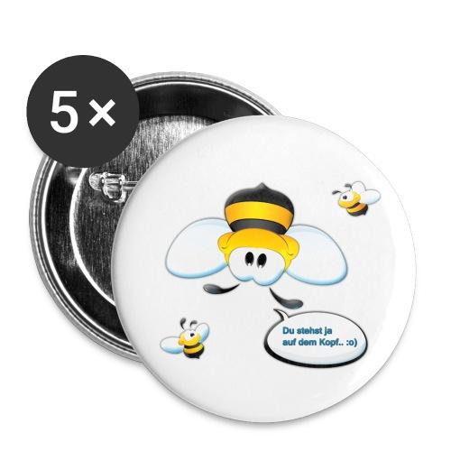 Bienchen-Button (Du stehst ja auf dem Kopf) - Buttons klein 25 mm