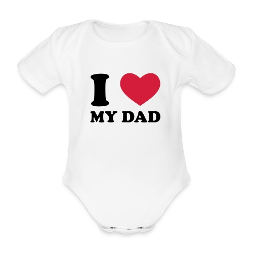 luv Dad - Organic Short-sleeved Baby Bodysuit