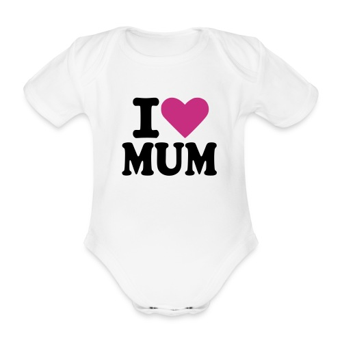 luv mum - Organic Short-sleeved Baby Bodysuit