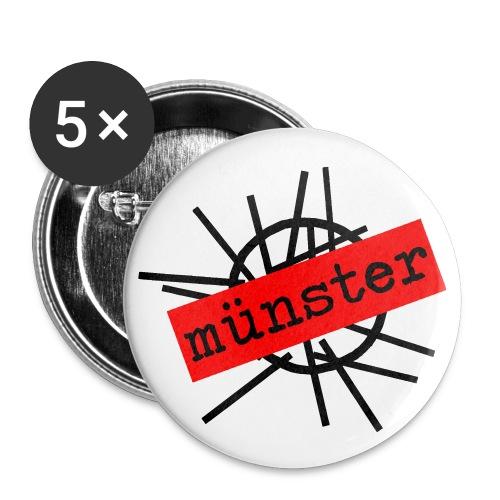 DM Münster Buttons (5 Stück) - Buttons mittel 32 mm