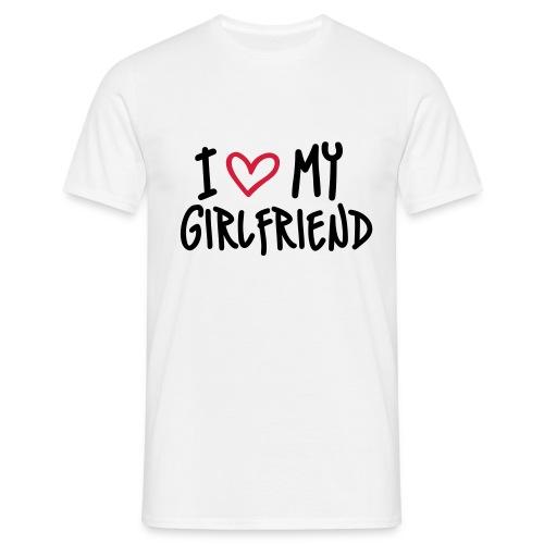 Rakastan omaa tyttöystävääni - Miesten t-paita