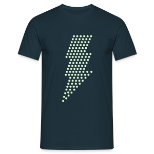 Bliksem! Glow in the dark - Mannen T-shirt
