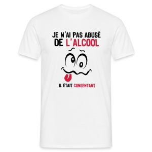 abuse alcool consentant smiley1 Tee shirts - T-shirt Homme