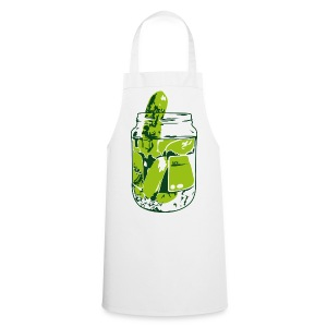 Pickles on white Apron - Cooking Apron