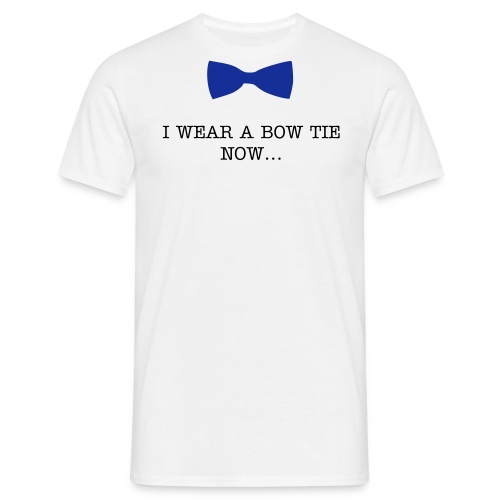 Bow ties are cool - Blue -  Adult Men - Men's T-Shirt