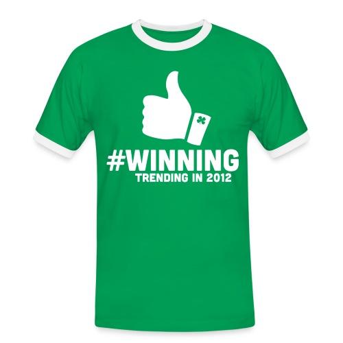 #Winning - Men's Ringer Shirt