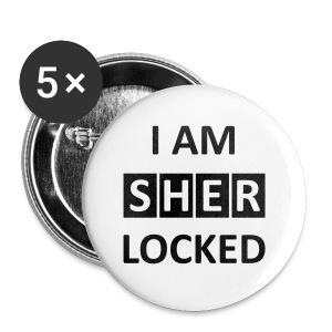Button- I am sherlocked  - Buttons mittel 32 mm