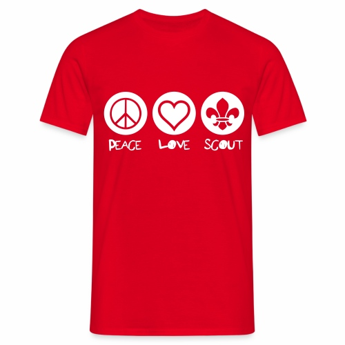 Peace Love Scout - T-shirt Homme