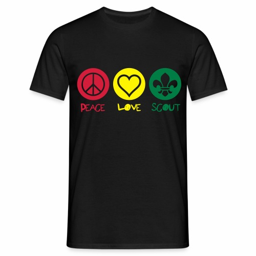 Peace Love Scout (Color) - T-shirt Homme
