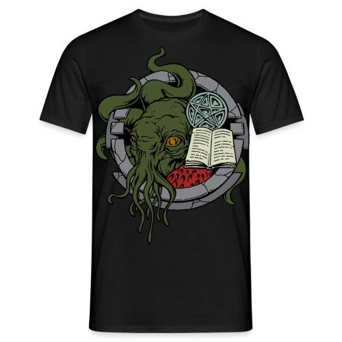 MTEv1: Cthulhu - wartet in seinem Haus  - Männer T-Shirt