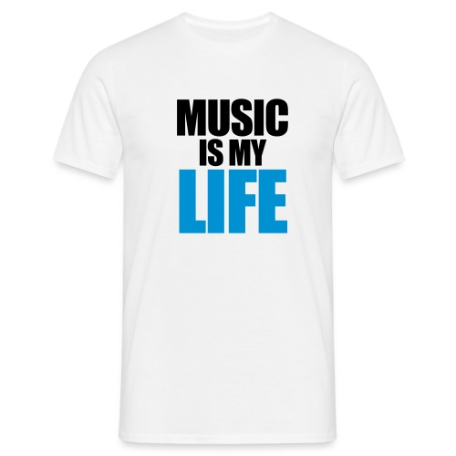 music is my life ~ mannen  - Mannen T-shirt
