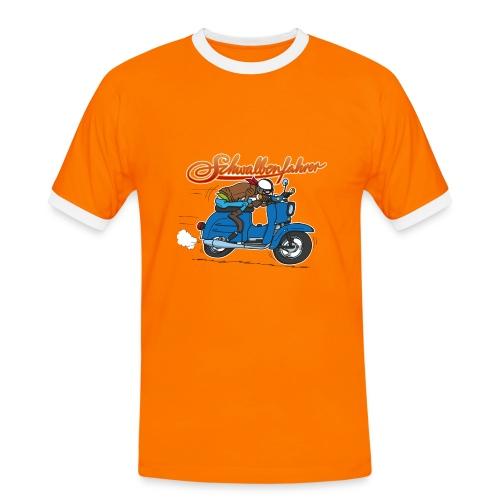 Schwalbe Raser Comic Kontrast-Shirt - Männer Kontrast-T-Shirt