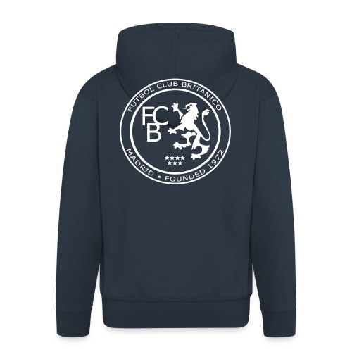 FC Británico White Badge Hoodie - Men's Premium Hooded Jacket