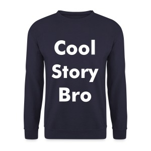 Cool Story bro navy sweater.  - Mannen sweater
