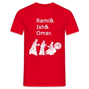 Rami&Ish&Omar White Text T-Shirt - Men's T-Shirt