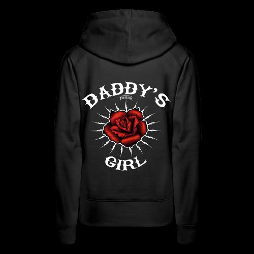 Daddy's girl - Sweat-shirt à capuche Premium pour femmes