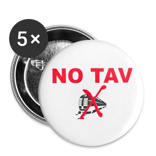 no tav  - Confezione da 5 spille grandi (56 mm)