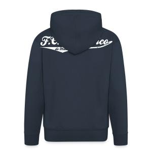 Mens FC Británico College Style Hoodie - Men's Premium Hooded Jacket