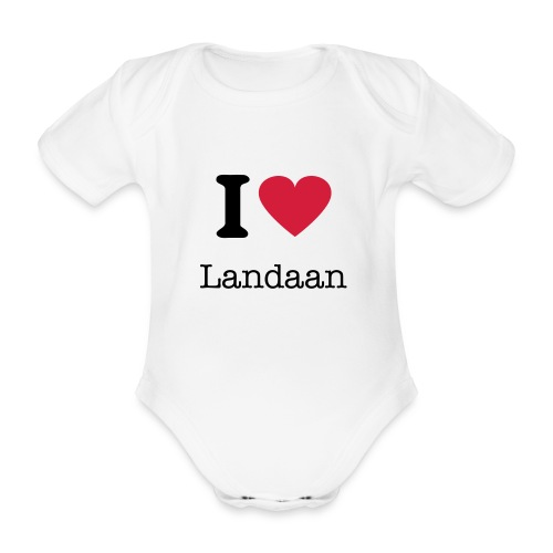 I Love Landaan - Organic Short-sleeved Baby Bodysuit