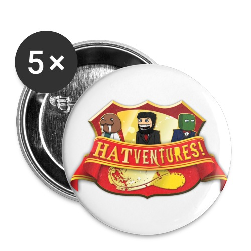 Hatventures Trio Shield Medium Button - Buttons medium 32 mm