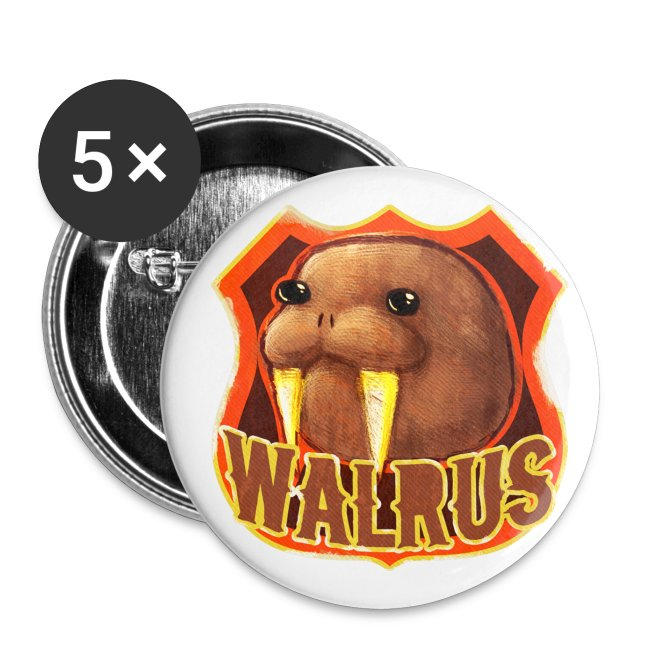 Walrus Shield Medium Button