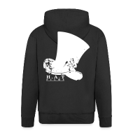 Hoodies & Sweatshirts ~ Men's Premium Hooded Jacket ~ Official Hat Films (Back)