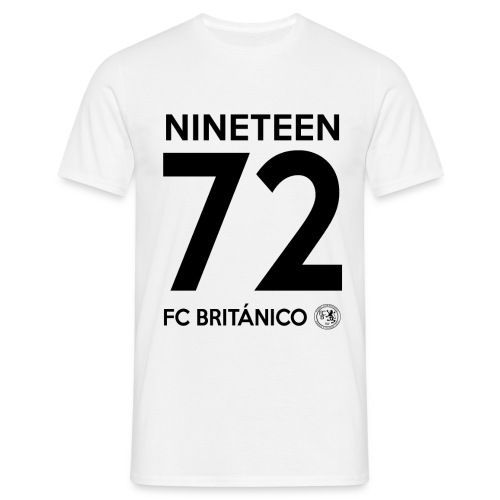 FC Británico 1972 Mens T-Shirt (Black Text) - Men's T-Shirt