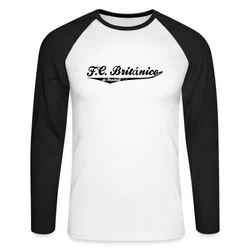 FC Británico College Style Baseball Shirt L/S - Men's Long Sleeve Baseball T-Shirt