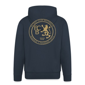 FC Británico Gold Badge Hoodie - Men's Premium Hooded Jacket