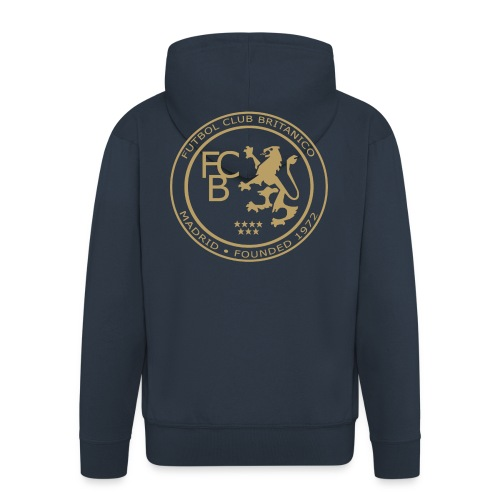 FC Británico Gold Badge Hoodie - Men's Premium Hooded Jacket