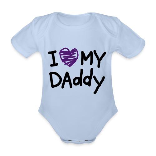 Body Love Daddy Bebe - Body orgánico de maga corta para bebé