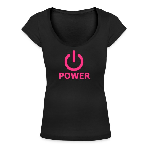 Girly zen power - T-shirt col U Femme