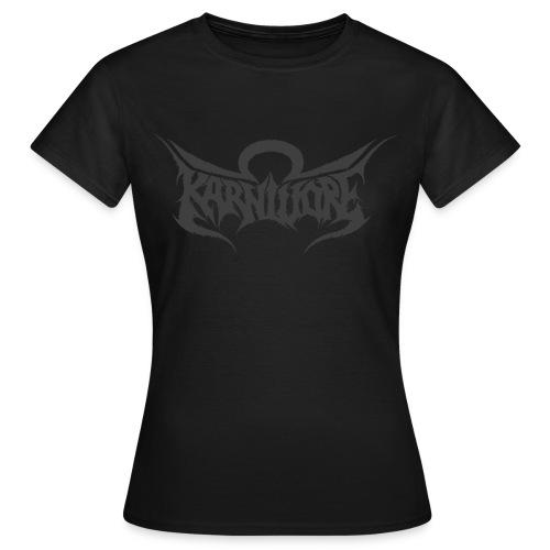 T-shirt dam - Endast tryck på framsidan.  Finns endast i svart.