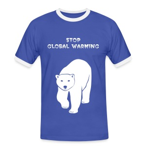 tier t-shirt eisbär polar bear ice knut klimawandel eis nordpol bär stop global warming CO2 - Männer Kontrast-T-Shirt