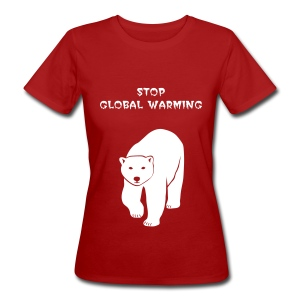 tier t-shirt eisbär polar bear ice knut klimawandel eis nordpol bär stop global warming CO2 - Frauen Bio-T-Shirt