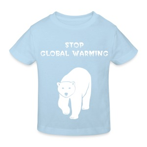 tier t-shirt eisbär polar bear ice knut klimawandel eis nordpol bär stop global warming CO2 - Kinder Bio-T-Shirt