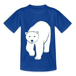tier t-shirt eisbär polar bear ice knut klimawandel eis nordpol bär stop global warming CO2 - Kinder T-Shirt